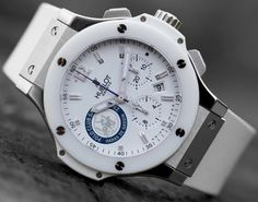 perfect #men's #watch for the #summer #white #classic #Fancy - Hublot Big Bang #Polo Club St Tropez