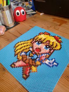 Sailor Moon hama beads by Alexandra Jau