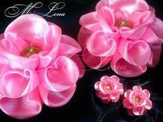 Цветок канзаши / Мастер-класс / Kanzashi flower / DIY Kanzashi / Ribbon flower tutorial - YouTube