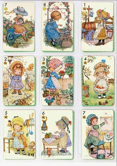 Barajas y Naipes: Anneliese Holly Hobbie, Crochet Projects, Art Projects, Christmas Gift Tags Printable, Hobby House, Ewok, Love Illustration, Art Portfolio, Vintage Girls