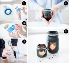 Chalkboard Mason Jar Candle Centrepiece