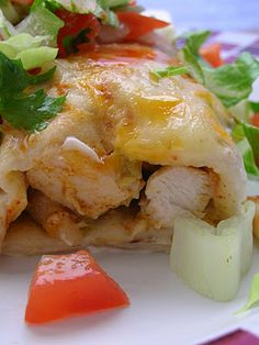 Basil: Chicken Enchiladas {with mushroom soup} Chile Colorado, Duck Recipes, Mexican Food Recipes, Ethnic Recipes, Mole, Enchiladas Potosinas, Poblano, Good Food, Yummy Food