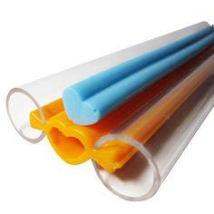Small Heart Tube Pipe Soap Mold Flexible by NaturalRepublic
