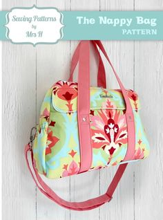 Diaper Nappy Bag PDF Sewing Pattern by Mrs H