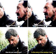 I may not like what Jamie and Cersei did. But I believe he truly loves her. He deserves to be happy.