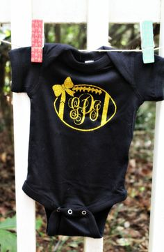 Check out this item in my Etsy shop https://www.etsy.com/listing/245225888/custom-monogram-football-baby-girl