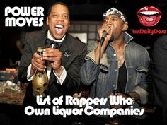 With the recent news of Jay-Z acquiring more interest in luxury champagne Ace of Spades, we decided to make a list of Rappers who own Liquor companies. As a bonus, we included past endorsements from hip hop artists.