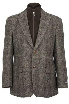 Clayton Harris Tweed Jacket in brown herringbone