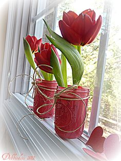 valentine decorating ideas | Simple Terrific Valentines Day Window Decorating Ideas