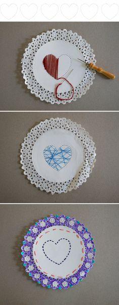 Tarjeta de costura / Stitching card / Nähkarte