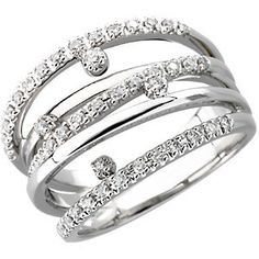 14K White Gold 1/3Ct Diamond Fancy Engagement Ring  $1,403.00