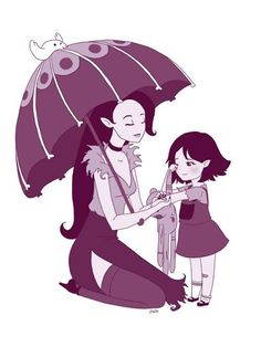 Oh my God, this picture is awesome. :) Marcy and her mother with that awesome umbrella! Adventure Time