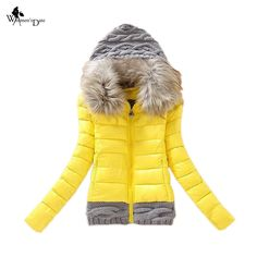 (33.64$)  Know more  - WomensDate 2016 Winter Jacket Coat Rabbit Fur Collar Parka Cotton Jacket Women Thick Snow Wear Coat Female Jackets Parkas Coat
