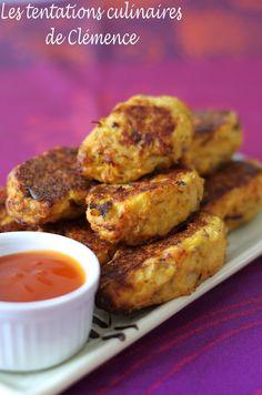 Croquettes de chou-fleur, parmesan et romarin Parmesan, French Toast, Vegetables, Breakfast, Food, Hot Sauce, Sprouts, Meal, Eat