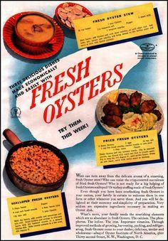 FRESH OYSTERS GOOD HOUSEKEEPING 12/01/1935 p. 159