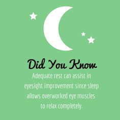Make sure you are getting enough rest #DidYouKnow?