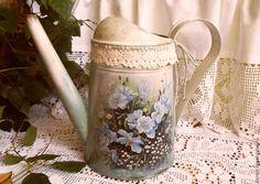 Купить Лейка НЕЖНОСТЬ.. - разноцветный, лейка, лейка декупаж, лейка для цветов, лейка для полива цветов