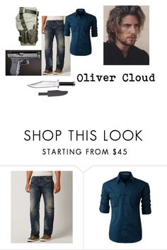 """Untitled #111"" by lillypaws on Polyvore featuring Affliction, LE3NO, men's fashion and menswear"