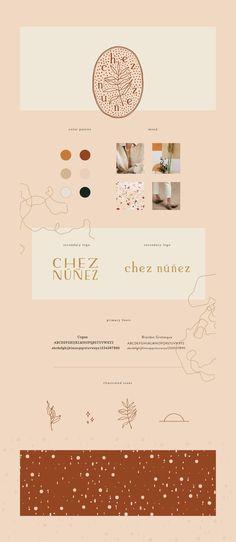 Chez Nunez Branding | brand board, visual identity, inspiration