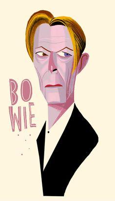 David Bowie / musician/ by Francisco Javier Olea