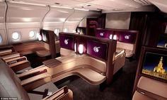 Tecnoneo: Qatar Airways está mostrando el lujo de su Airbus A350 en una estación de Londres