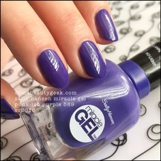 Sally Hansen Miracle Gel Nail Polish ~ Punk-ish Purple