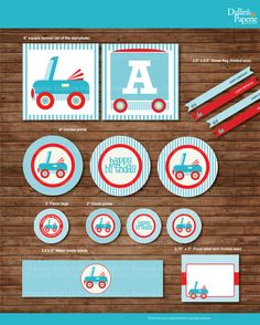 Car Birthday Party DIY Printable Party pack  by DallinsPaperie, $17.00