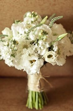 White boquet. Possibly wildflowers.   Google Image Result for http://cdn.bestdestinationwedding.com/f/f0/322x487px-LL-f0ea73b4_wildflowers-wedding-boquets-4.jpeg