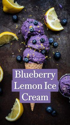Frozen Blueberry Recipes, Frozen Blueberry Muffins, Blueberry Desserts, Frozen Blueberries, Frozen Desserts, Frozen Treats, Vegan Desserts, Just Desserts, Blueberry Cookies