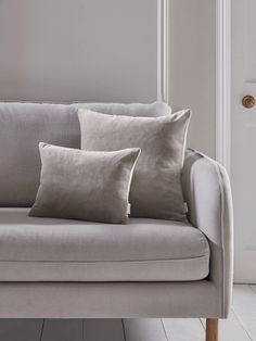 Velvet & Linen Cushions - Dove Grey Luxury Cushions, Decorative Cushions, Cushions On Sofa, Pillows, Formal Living Rooms, Living Room Decor, Homeware Uk, Interior Styling, Interior Design