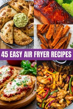 These recipes for your air fryer are perfect for any type of food you're looking to make! Choose from 45 chicken air fryer recipes, appetizers, air fryer desserts, fish in the air fryer, and so much more!