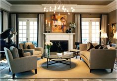 Looking for classic interior design ? Here are some sample images of classic interior design. Classic Living Room, Elegant Living Room, Formal Living Rooms, Living Room Modern, Home Living Room, Living Room Furniture, Cozy Living, Small Living, Living Area