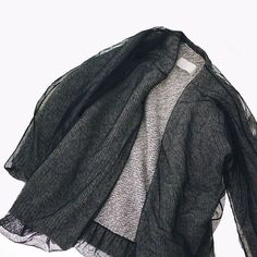 Maison Martin Margiela Mesh Layered Knit Cardigan