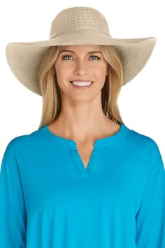Wide brim hats by Coolibar are designed for maximum sun protection coverage. Coolibar sun hats are rated UPF 50+, blocking 98% of UV rays.