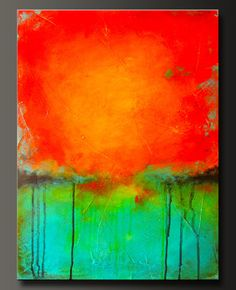 Abstract acrylic contemporary painting.