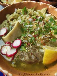 How tasty does this Menudo - Verde recipe from look? We love seeing our meats in your kitchens, stirring up new memories with your loved ones and friends! Mexican Kitchens, Mexican Dishes, Mexican Food Recipes, Healthy Recipes, Mexican Meals, Menudo Recipe Authentic, Mexican Menudo Recipe, Columbia Food, Pozole Recipe