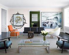 O arquiteto Dirk Denison e o designer Michael Richman assinam o projeto desta casa em Chicago, EUA
