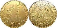 Doblón de oro acuñado por la Casa de Moneda de México en 1798. El doblón fue la moneda del Imperio español.