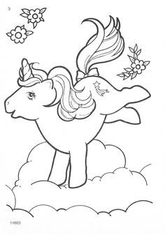 Vintage My Little Pony - PRINT AND COLOR ME!