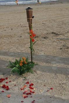 tiki torch ceremony decor...or paddles...