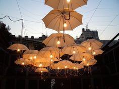 Umbrellas in Battery Park, New York