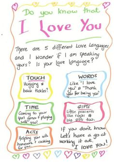 5 Love Languages Love You Friend I Love My Hubby I Love You