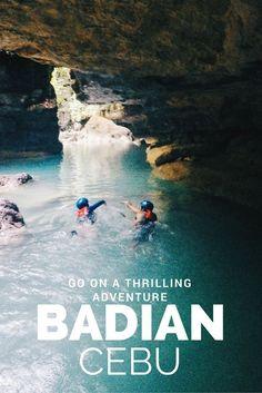 Canyoneering adventure in Kawasan Falls, Cebu, Philippines