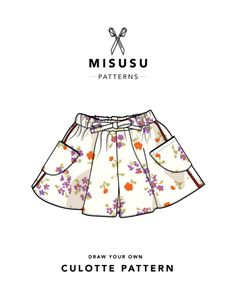 In this tutorial we'll show you how to draft a simple base culotte pattern using your own measurements, how to adjust the shape and how to actually sew everythi