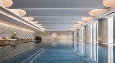 Hotel Swimming Pool, Indoor Swimming Pools, Swimming Pool Designs, Space Interiors, Villa Design, Conceptual Design, Outdoor Living Areas, Architecture Design, Stairs