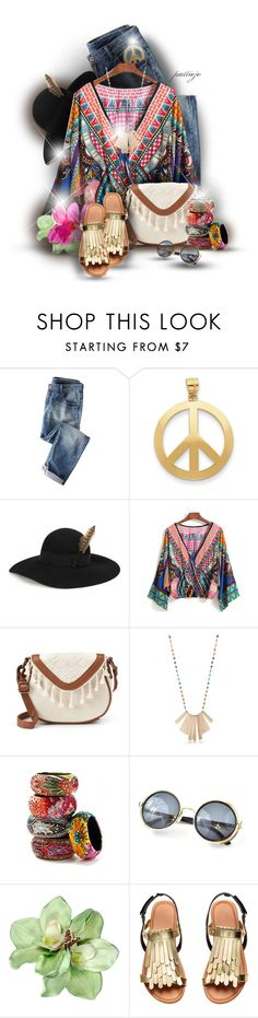 """""""Far Out"""" by rockreborn ❤ liked on Polyvore featuring Kevin Jewelers, Yves Saint Laurent, T-shirt & Jeans, New Directions and Nordstrom"""
