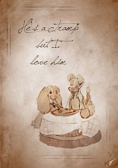 Lady and the Tramp inspired valentine.