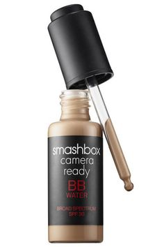 You'll look airbrushed IRL with this hydrating oil-free foundation that dispenses the liquid product with a dropper. The result is a veil of buildable, medium coverage that feels light on the skin and subtly minimizes imperfections. Smashbox Camera Ready BB Water, $42; smashbox.com