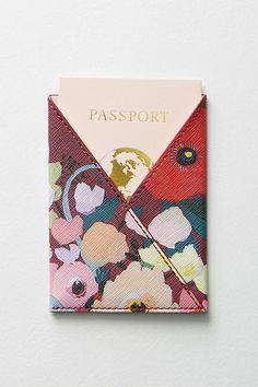 Picturesque Florals Passport Holder