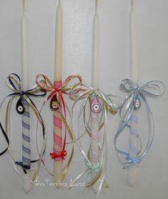 Λαμπάδες με μεταλλικό ματάκι με σμάλτο Χειροτεχνημα - Handmade